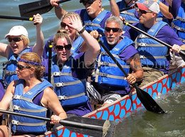 Dragon boaters keep the speed and fire going