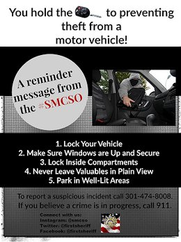 Prevent thefts from motor vehicles
