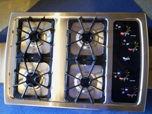 WHIRLPOOL STAINLESS STEEL 4 BURNER COUNTER TOP GAS STOVE