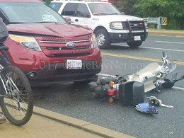 Scooter hit by motor vehicle in Lexington Park