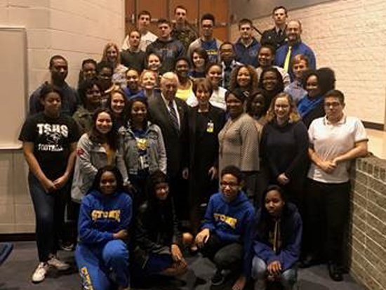 Hoyer visits Thomas Stone High School to discuss civic engagement