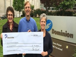 Dominion Cove Point donates to Patuxent Habitat for Humanity