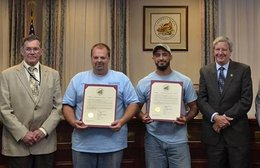 Water and sewer workers honored for heroism