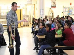 Fourth graders contemplate taking up an instrument