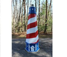 7 ft. Patriotic Red White and Blue Lighthouse