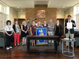 St. Mary's College students inducted into the College's first chapter of National French Honor Society