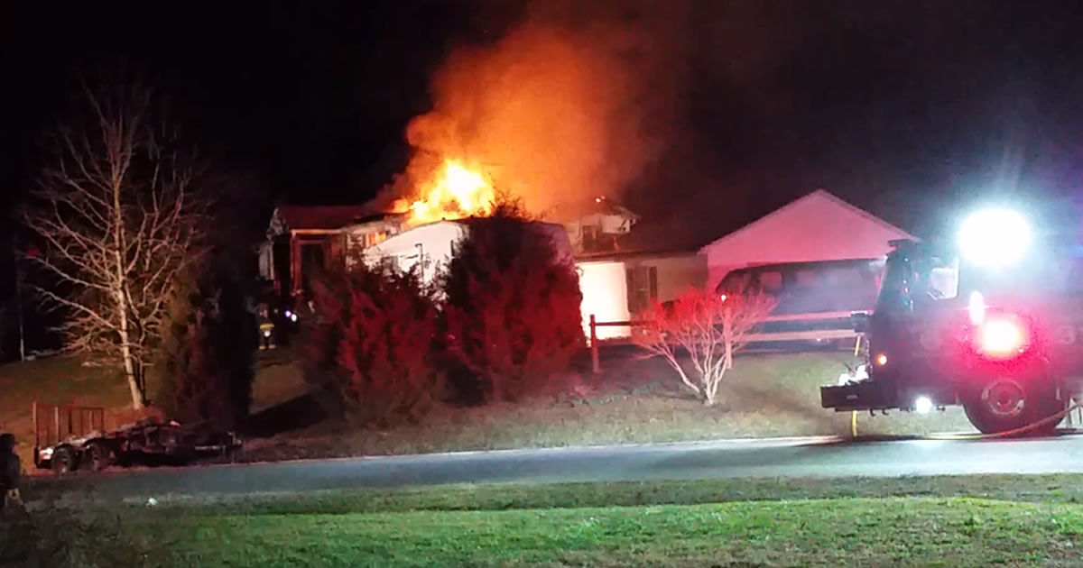 House fire in Lusby