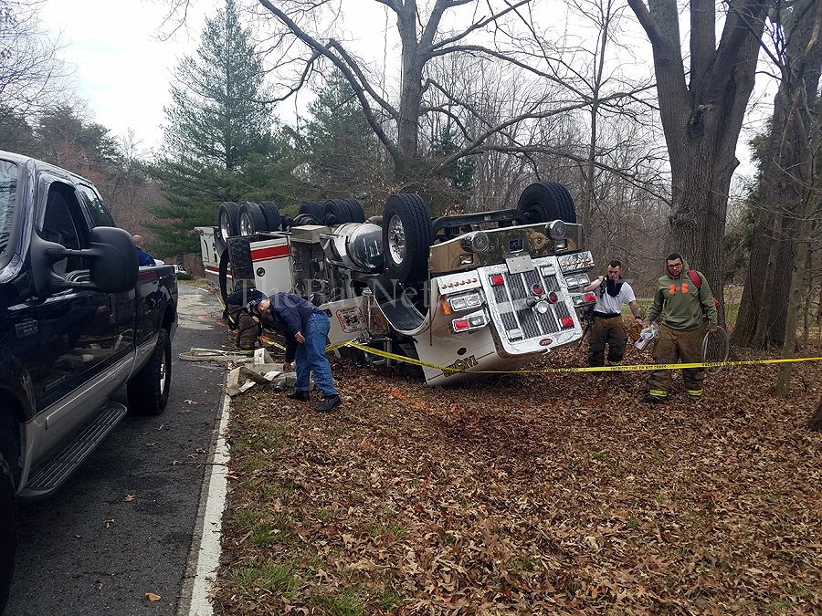 Fire truck accident in Calvert County